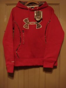 UNDER ARMOUR WOMENS SMALL PINK STORM HOODIE SWEATSHIRT JACKET NWT $64.99 $33.99