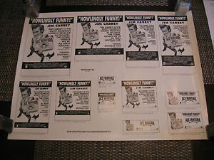 Jim Carrey Ace Ventura Pet Detective ONE OF A KIND National Print Ad Proof $229.00