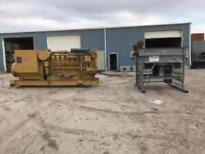 1500 kW CAT Genset with Remote Radiator Low Hours 4160 volts 3 Phase 4 Lead