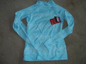 Girls S NIKE Pro Dri Fit hyperwarm series Shirt BRAND NEW Small BLUE shirt top $8.00