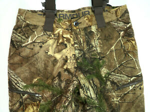 NWT Under Armour Realtree ColdGear Extreme Season Camo Hunting Bibs Size Large