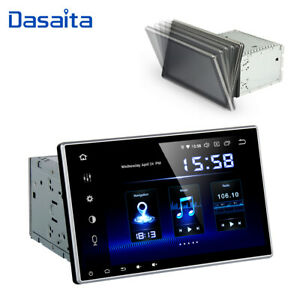 Double Din Android 9.0 Car GPS Stereo Radio Adjustable Screen Universal Headunit