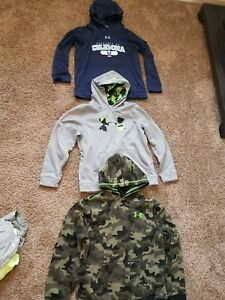 lot of 3 youth camo hoodies. size L XL