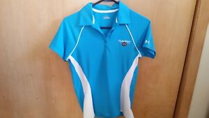 WOMENS BLUE UNDER ARMOUR GOLF TENNIS  POLO SHIRT SIZE SMALL