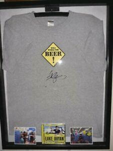 LUKE BRYAN SIGNED FRAMED