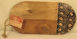 Thirstystone Oval Wood Cheese Sushi Appetizer Serving Board, 13½