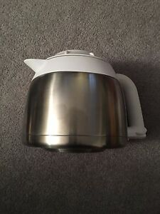 Stainless Steel Coffee Pot with Plastic Cover and Handle