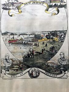 ANTIQUE LITHOGRAPH  W. BROTHERHEAD AND PRINTED BY H. J TOUDY & CO. NEW JERSEY
