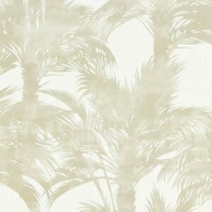SCALAMANDRE EXOTIC TROPICAL CHIC LINEN PRINT  HOME DECOR FABRIC 5 YARDS SAND