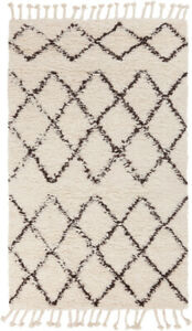 Surya Sherpa 6' X 9' Rectangle Area Rugs With Dark Brown And Cream SHP8001-69