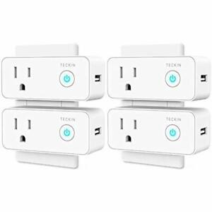 Smart Outlet Switches Plug Wifi USB Mini Socket Compatible With Alexa Google 4