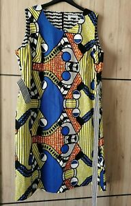 🌷MARINA RINALDI  Printed Cotton Dress PLUS size MR 29_ USA 20W_ IT58_ D50_ GB24