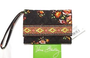 VERA BRADLEY Swing Wallet Wristlet Chocolate Brown Chocolat New with Tag $24.95