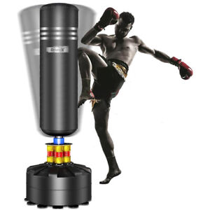 5.7FT Boxing Free Spring Standing Punch Bag Stand MMA Martial Arts Punching US