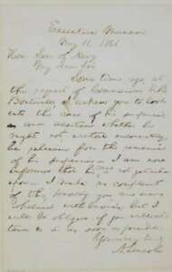 Abraham Lincoln Signed Autographed Civil War Dated Handwritten Letter PSADNA