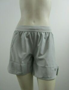 NWT Womens S M L Asics Brief Woven 5.5 Running Active Gym Workout Shorts Gray $17.98