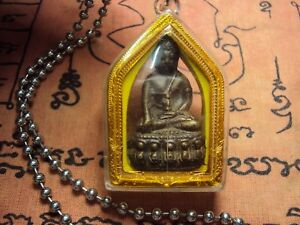 Phra Kring Old Thai Buddha Metal Southeast Asia collectible in Case Very Rare