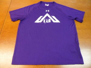Purple Under Armour Loose Heat Gear T Shirt Large F8 $19.99
