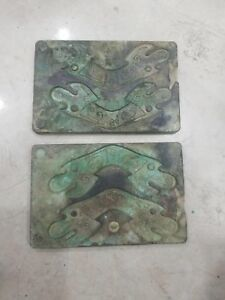 China bronze fish coin mould combined coin model money plate #02