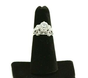 The Bradford Exchange Happily Ever After White Topaz Ring Size 5