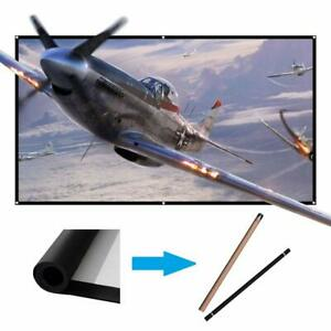 60 inch Projector Screen Portable Outdoor Projection Movies Screens 169 HD W...