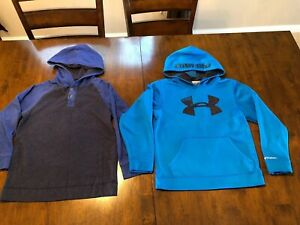 under armour boys youth sweat shirt hoodie blue SMALL YSM Children's Place M 78