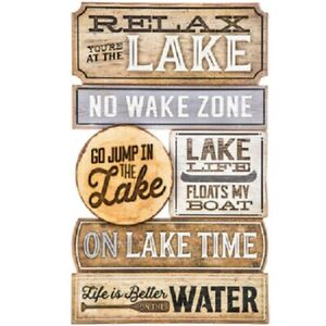 LAKE HOUSE DECOR  TO THE LAKE RUSTIC MDF WOOD SIGN