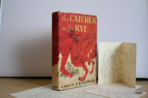 J.D. Salinger (1951) 'The Catcher in the Rye' US first edition signed ephemera