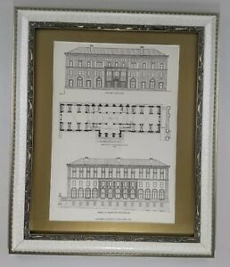 Columbia University School of Journalism 1913 Framed Architecture Lithograph $180.00