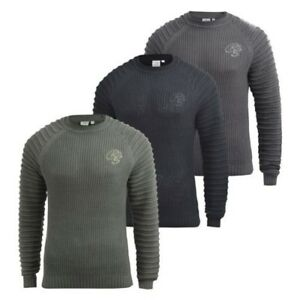 Mens Knitwear Crosshatch Sweater Top Pullover Knitted Jumper