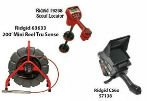 Ridgid 200' Mini Reel (14063) Scout Locator (19238) CS6x (57138)