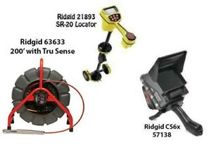 Ridgid 200' Mini Reel (14063) SeekTech SR-20 Locator (21893) CS6x (57138)