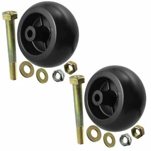 2 USA MADE Craftsman Deck Wheels+Kits For 133957 , 193406 , 174873. MTD 734-3058