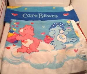 Care Bears 3 Pc. Twin Flat & Fitted Sheets, PillowCase Funshine Bedtime Vintage