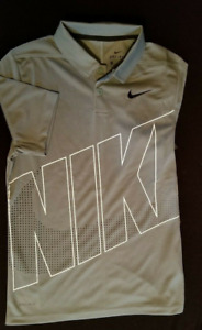 Nike Youth Boys Dri-FIT Essential Graphic olive gree Golf Polo Shirt AA3336 NEW
