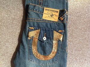 Vintage unique True Religion jeans made in USA 36 X 33