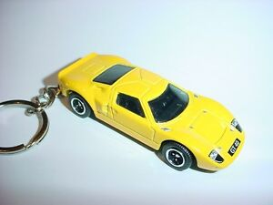NEW 3D YELLOW FORD GT40 CUSTOM KEYCHAIN keyring key GT 40 HOT BACKPACK BLING $9.95