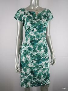 Trashy Diva Dress Party Cocktail Size 6 S Green Floral Cap Sleeve Sheath PUG VLV