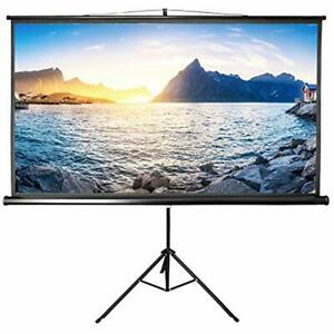 Projector Screen With Stand Indoor Outdoor Projection 100 Inch 169 For Movie HD