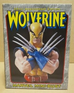 WOLVERINE 25TH ANNIVERSARY GOLD MINI BUST BY BOWEN DESIGNS UNOPENED $79.99