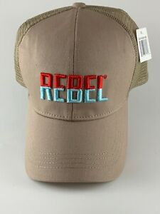 REBEL Lures Trucker Cap Hat Adjustable One Size  NEW