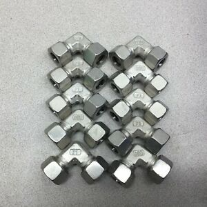 NEW NO BOX (LOT OF 10) M15 X M15 90 DEG ELBOW TUBE CONNECTOR 71VU-15L