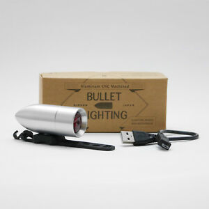RINDOW BIKES BULLET LIGHTING Bicycle Tail light Silver Red LED NEW