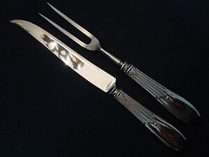2pc. CARVING SET Vintage STAINLESS STEEL: excellent