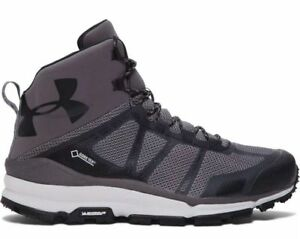 New Sz 11 Men's Under Armour Verge Mid Gore-Tex Hiking Boot Grey 1268842-040