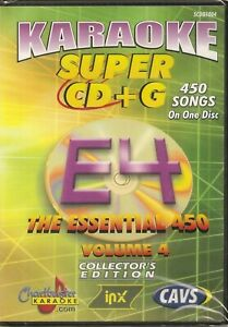 CHARTBUSTER Essentials CAVS Super CD+G  - VOL 4 (450 SONGS)  !!Until ALL Sold!!
