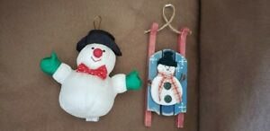 Christmas Tree Ornaments Holiday Gift Ornament Set of Two Vintage