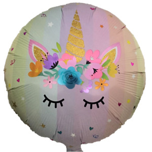 18 Unicorn Pink Balloon Mylar Foil Party Decorations Gifts