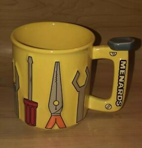 Menards Tool Coffee Mug Rare Advertising Promo Yellow Home Improvement Dad