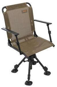 Alps Outdoorz Stealth Hunter Blind Chair Brown Deluxe Sporting Goods